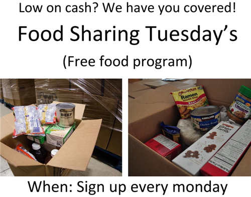 Food Sharing Tuesday's