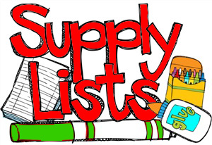 Mrs. Carlie's 1st grade Supply Lists