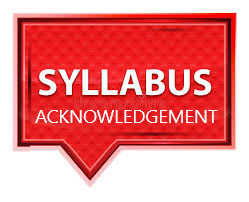 syllabus acknowledgement