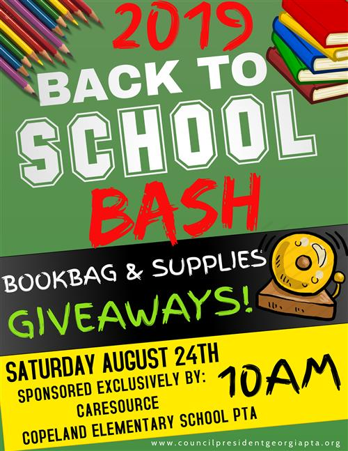 Back to School Bash giveaway Aug. 24