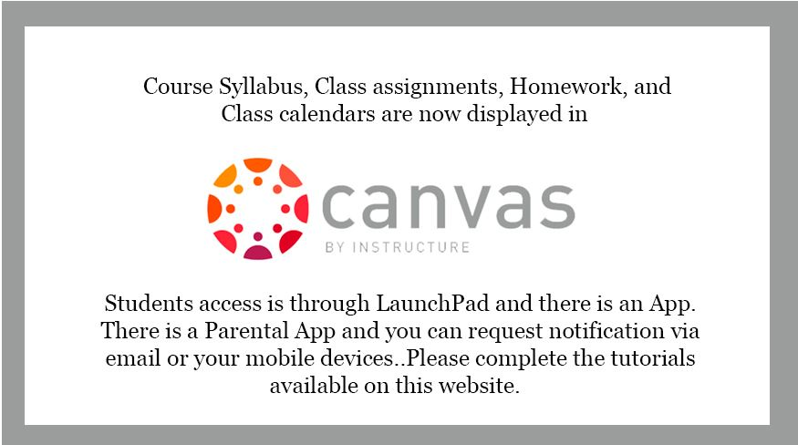Canvas information-Students access Canvas through Launch Pad