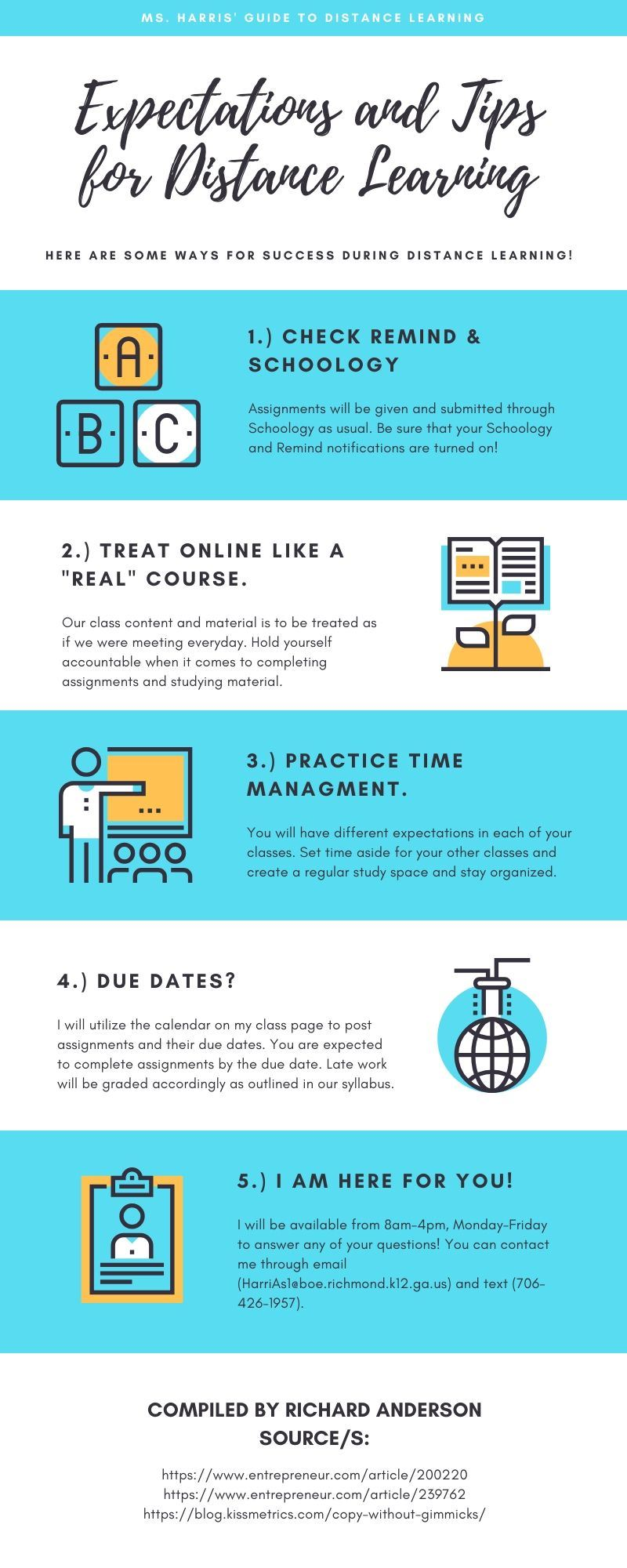 Distance Learning Infograhic