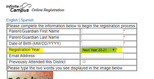 Registration Year