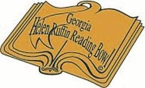 "logo: an open book with the words ""Georgia Helen Ruffin Reading Bowl"