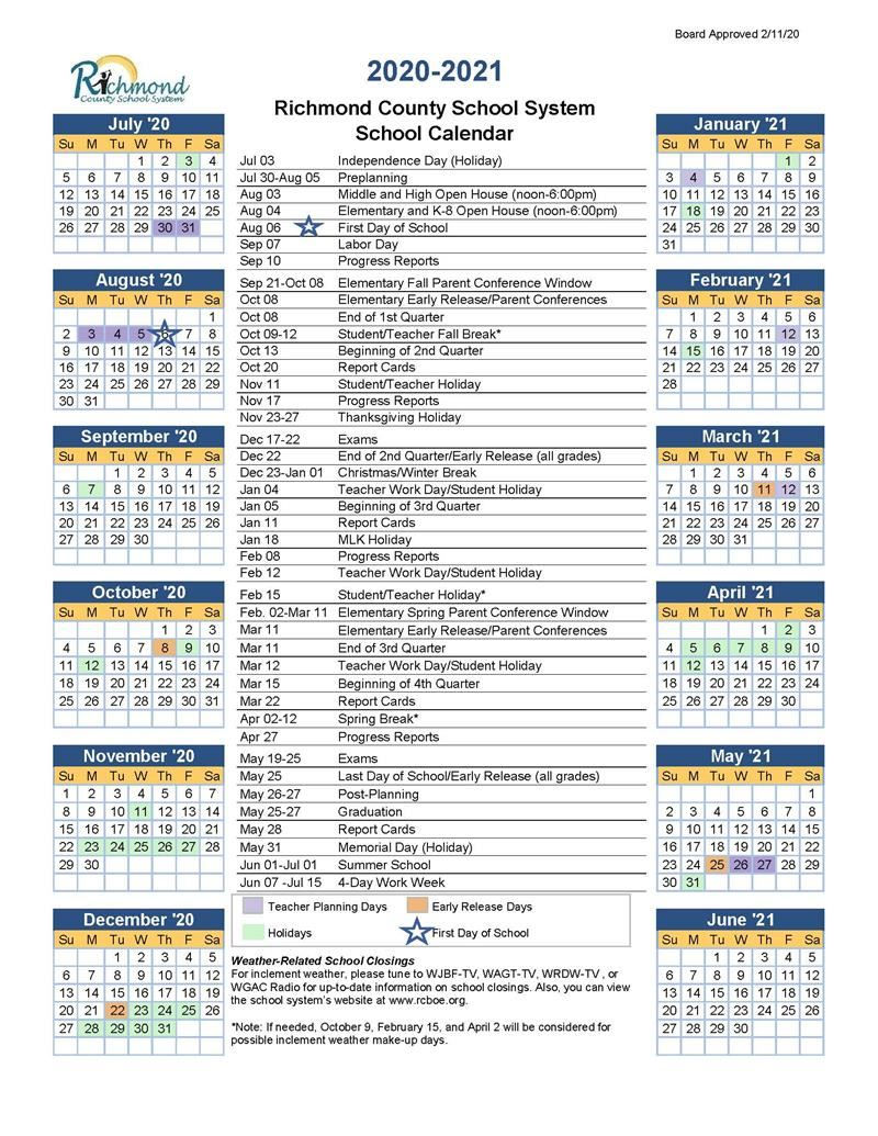 Georgia Cyber Academy Calendar 2021-2022 Media Center / 2020 2021 School Calendar