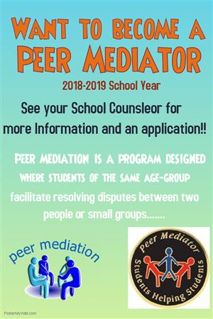 Want to become a Peer Mediator