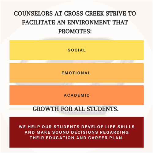 Counselors at CCHS strive to facilitate an environment that promotes: social, emotional, academic growth for all students.