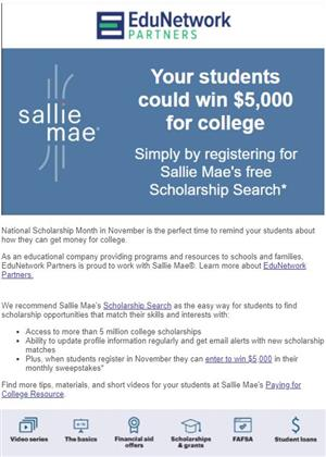 Sallie Mae Scholarship Search