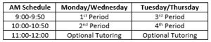 AM Schedule
