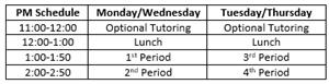 PM Schedule