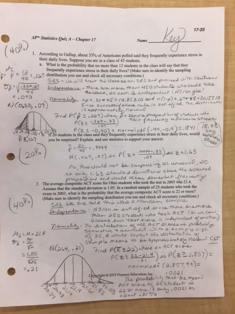 Ginn, Nancy / A.P.Statistics Notes and Assignments