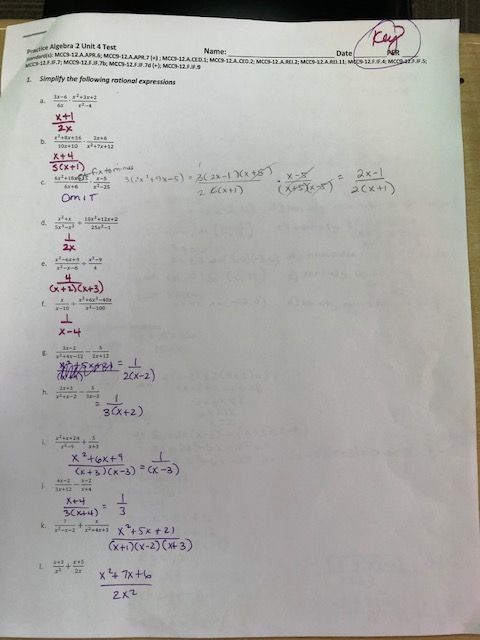 Unit 3 Quadratic Functions Review Answers