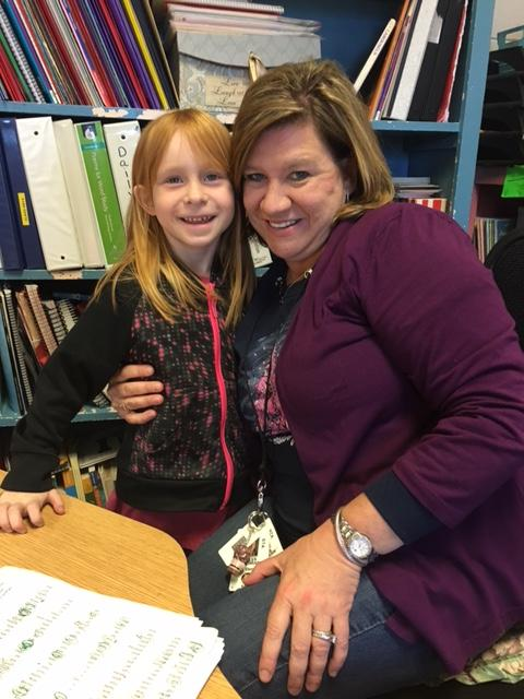 Mrs. Cochran and first grader