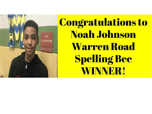 WRES Spelling Bee Winner