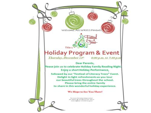 Festival of Trees Dec. 13