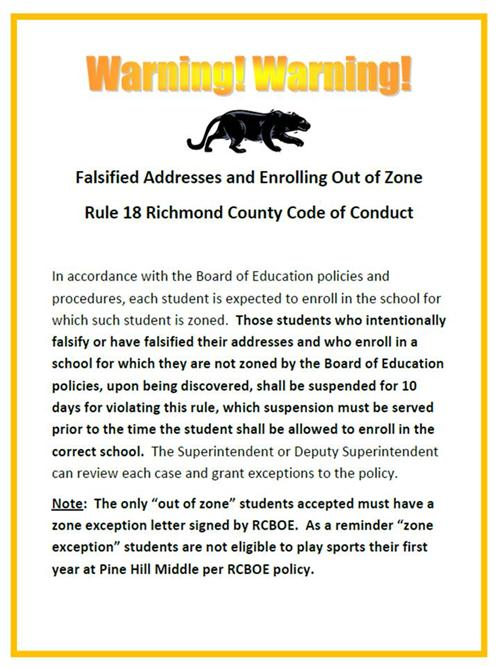 Falsified Addresses and Enrolling Out of Zone