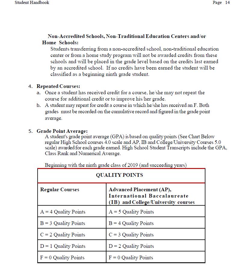 Guidance Miller Jamel Weighted Gpa Information