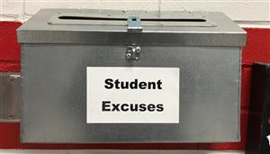 Student excuses mailbox