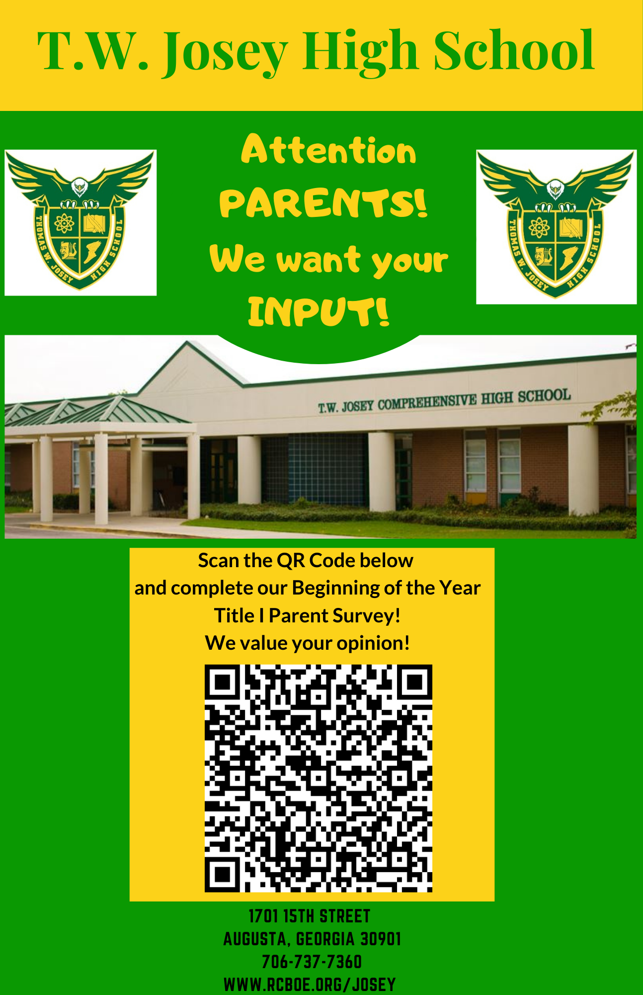 TWJ Parent and Student Flyer