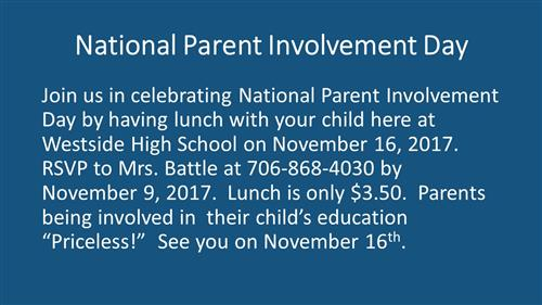 National Parent Involvement Day