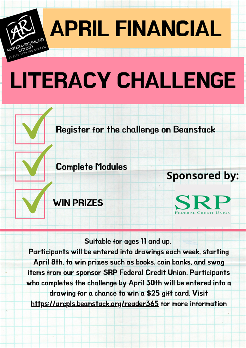 Ad for Financial Literacy Challenge