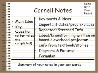 Avid cornell notes template cornell notes template maxwellsz