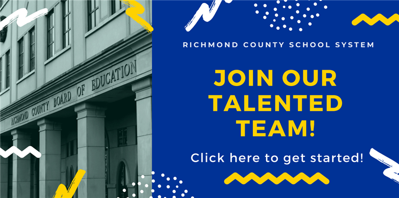 Image with hyperlink to apply for positions with the Richmond County School System