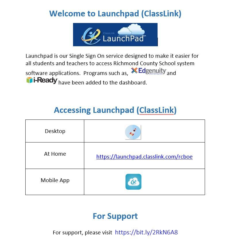 Welcome to Launchpad (Classlink)