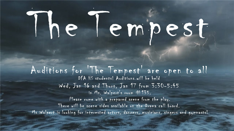 tempest auditions