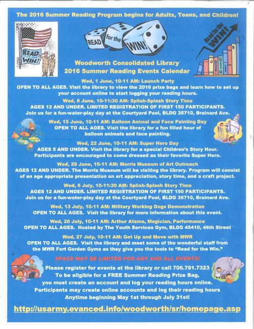 Summer Reading Events