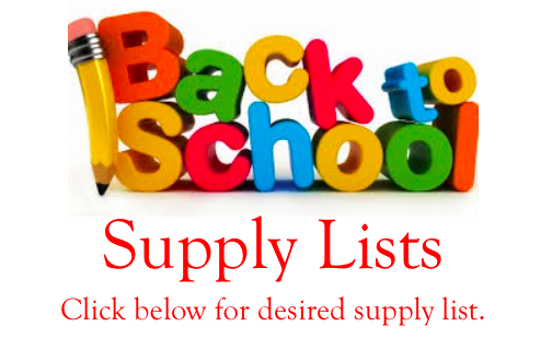 2016-2017 Supply Lists