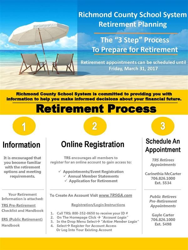 TRS Retirement Flyer